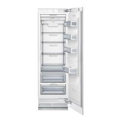 "Thermador 24"" Built-in Fully Flush Fresh Food Column Custom Panel | T24IR800SP - 13.1 cu. ft. Capacity, Full Width Glass Shelves, FlexTemp Drawer, LED Interior Lighting and Accepts Custom Panels"