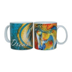 """Westland - 4 Inch Marcia Baldwin Mustang West """"Dream"""" Ceramic Coffee Mug, 14 oz. - This gorgeous 4 Inch Marcia Baldwin Mustang West """"Dream"""" Ceramic Coffee Mug, 14 oz. has the finest details and highest quality you will find anywhere! 4 Inch Marcia Baldwin Mustang West """"Dream"""" Ceramic Coffee Mug, 14 oz. is truly remarkable."""