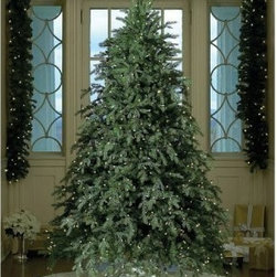 Hunter Full Pre-lit Christmas Tree - Offering a dramatic full foliage shape the Hunter Pre-Lit Full Christmas Tree will make holiday spirit come alive in your home. This prelit Christmas tree is available in 6.5 and 7.5 feet heights with wide stable bases. The down-swept polyethylene (PE) and PVC balsam fir branches are sprinkled with life-like burr pinecones for a realistic appearance. This Christmas tree is prelit with clear dazzling light bulbs to illuminate the green splendor of its thousands of branch tips. The hinged branches allow for easy 20-minute assembly. You and your family will enjoy the warm glow of this prelit Christmas tree for years to come. Specifications for the 7.5-foot Tree Shape: Full Base Width: 65-inches Number of Bulbs: 850 Number of Tips: 4556 Specifications for the 6.5-foot Tree Shape: Full Base Width: 59-inches Number of Bulbs: 700 Number of Tips: 3604 About GKI/Bethlehem LightingGKI/Bethlehem Lighting a division of New England Pottery is North America's leading distributor of holiday lighting and pre-lit foliage. Bethlehem Lighting's roots began as a source to the professional decorating industry for quality lights designed to withstand the rigors of outdoor displays. They quickly became the premiere resource for visual display professionals commercial decorators and lighting specialists. Today their lights pre-lit foliage and ornaments adorn theme parks hotels municipalities and cruise ships throughout the country and around the world.Based in Taunton Mass. Bethlehem Lighting provides the perfect solution for homeowners who want to bring the beauty of professional-quality decorating to their home. Their commercial-grade products offer safety and durability along with vivid colors and innovative designs to create awe-inspiring pageantry. Bethlehem Lighting presents the most comprehensive offering of specialty lighting pre-lit foliage and large-scale decorative items in the industry. Bethlehem Lighting will help you create magic at home b