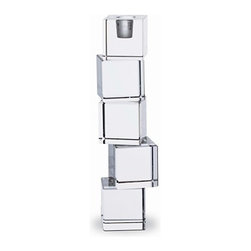 Baccarat - Baccarat Intangible 5-Cube Candlestick - Baccarat Intangible 5 Cube Candlestick