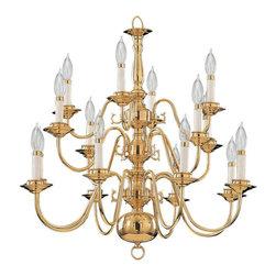 Quorum International - Quorum International 6171-16-2 Polished Brass / Solid Brass - ChandelierBulbs: (16) 60W Candelabra