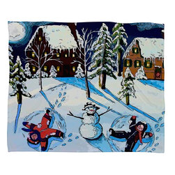 DENY Designs - DENY Designs Renie Britenbucher Snow Angels Fleece Throw Blanket - This DENY fleece throw blanket may be the softest blanket ever! And we're not being overly dramatic here. In addition to being incredibly snuggly with it's plush fleece material, you can also add a photo or select a piece of artwork from the DENY Art Gallery, making it completely custom and one-of-a-kind! And when you've used it so much that it's time for a wash, no big deal, as it's machine washable with no image fading. Plus, it comes in three different sizes: 80x60 (big enough for two), 60x50 (the fan favorite) and the 40x30. With all of these great features, we've found the perfect fleece blanket and an original gift!