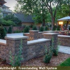 Mediterranean Landscaping Stones And Pavers by anchorwall.com