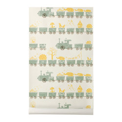 Ferm Living Tiny Train Wallpaper