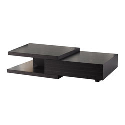 JNM Furniture - HK-19 Modern Coffee Table in Wenge Finish - HK-19 Coffee Table offers a great modern feel and look. The modern Wenge finish is perfect for completing a fashionable look to your room. The table is made with