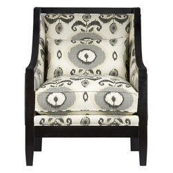 Kenneth Chair - A little spot of gray softens the bold black and white pop.
