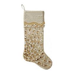 KIM SEYBERT Christmas Stocking-Spectrum Gold/Silver $65 - BEST PRICE & SATISFACTION GUARANTEED!