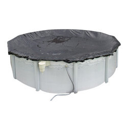 Blue Wave - Blue Wave Oval Rugged Mesh Cover - 18 ft x 30 ft - Above-ground Arctic Armor; rugged mesh winter cover environmentally friendly cover saves time and money in the spring! our rugged mesh cover makes spring clean-up a snap. The secret to this unique cover is the tightly woven scrim that holds together ensuring that no gaps or holes develop. Rugged mesh allows only rain water and very fine silt to pass through. Since the cover is made of mesh that is very lightweight, simply lift it off in the spring. No heavy water to lift off or time consuming cover pumping. Simply remove rugged mesh, vacuum up the fine silt and open your pool. Rugged mesh's fine mesh allows rain and snow to slowly fill your pool, saving water and chemicals in the spring. Since our scrim is so tightly woven, the cover allows almost no sunlight through and ensures an algae-free pool in the spring. Arctic Armor's; rugged mesh covers are made from tough U.V. Protected woven polyethylene that is strong enough to handle ice, snow, sleet and high winds. Rugged double stitched hems are triple reinforced for strength and the cover's black underside retards algae growth. All Arctic Armor; rugged mesh covers have a 4' overlap and includes a cable and winch tightener. Backed by an 8 year warranty.