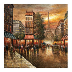 Bassett Mirror Company - Bassett Mirror Old World Paris Nights Canvas Art - Paris Nights Canvas Art belongs to Old World Collection by Bassett Mirror Company Bassett Mirror is fluent in this art, showing a terrific contemporary furniture that will satisfy on the one hand fans of home coziness, and on the other hand - seekers of non-standard design solutions also. One of the many strengths of the Bassett Mirror is using high quality materials for perfect embodiment of brilliant design ideas. Wall Art (1)