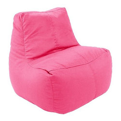 Ace Bayou - Ace Bayou Lounge Beanbag in Pink - This beanbag has durable vinyl fabric and double-stitched seams for durability.