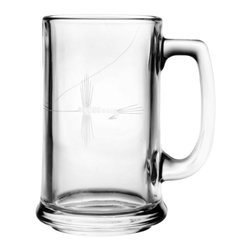 Rolf Glass - Fly Fishing Beer Mug, Set of 4 - You can chill and relax with beer in hand, even better in these sturdy yet elegant mugs. The delicate fly-fishing design etched on the glass will lure you in.
