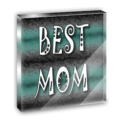 "Made on Terra - Best Mom Admiration Respect Mini Desk Plaque and Paperweight - You glance over at your miniature acrylic plaque and your spirits are instantly lifted. It's just too cute! From it's petite size to the unique design, it's the perfect punctuation for your shelf or desk, depending on where you want to place it at that moment. At this moment, it's standing up on its own, but you know it also looks great flat on a desk as a paper weight. Choose from Made on Terra's many wonderful acrylic decorations. Measures approximately 4"" width x 4"" in length x 1/2"" in depth. Made of acrylic. Artwork is printed on the back for a cool effect. Self-standing."