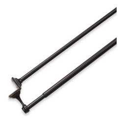 Umbra - Umbra Mission Bronze Double Drapery Tension Rod - Give your windows instant style and functionality with this quick and easy to install double tension rod.