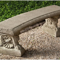 Campania International - Campania International Westbury Cast Stone Backless Garden Bench - BE-119-AL - Shop for Benches from Hayneedle.com! About Campania InternationalEstablished in 1984 Campania International's reputation has been built on quality original products and service. Originally selling terra cotta planters Campania soon began to research and develop the design and manufacture of cast stone garden planters and ornaments. Campania is also an importer and wholesaler of garden products including polyethylene terra cotta glazed pottery cast iron and fiberglass planters as well as classic garden structures fountains and cast resin statuary.Campania Cast Stone: The ProcessThe creation of Campania's cast stone pieces begins and ends by hand. From the creation of an original design making of a mold pouring the cast stone application of the patina to the final packing of an order the process is both technical and artistic. As many as 30 pairs of hands are involved in the creation of each Campania piece in a labor intensive 15 step process.The process begins either with the creation of an original copyrighted design by Campania's artisans or an antique original. Antique originals will often require some restoration work which is also done in-house by expert craftsmen. Campania's mold making department will then begin a multi-step process to create a production mold which will properly replicate the detail and texture of the original piece. Depending on its size and complexity a mold can take as long as three months to complete. Campania creates in excess of 700 molds per year.After a mold is completed it is moved to the production area where a team individually hand pours the liquid cast stone mixture into the mold and employs special techniques to remove air bubbles. Campania carefully monitors the PSI of every piece. PSI (pounds per square inch) measures the strength of every piece to ensure durability. The PSI of Campania pieces is currently engineered at appr