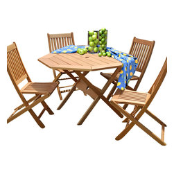 International Home Miami - Amazonia BT Milano Octogon 5-Piece Patio Set - Great Quality, elegant design patio set, made of solid eucalyptus wood. FSC (Forest Stewardship Council) certified. Enjoy your patio with style with these great sets from our Amazonia outdoor collection