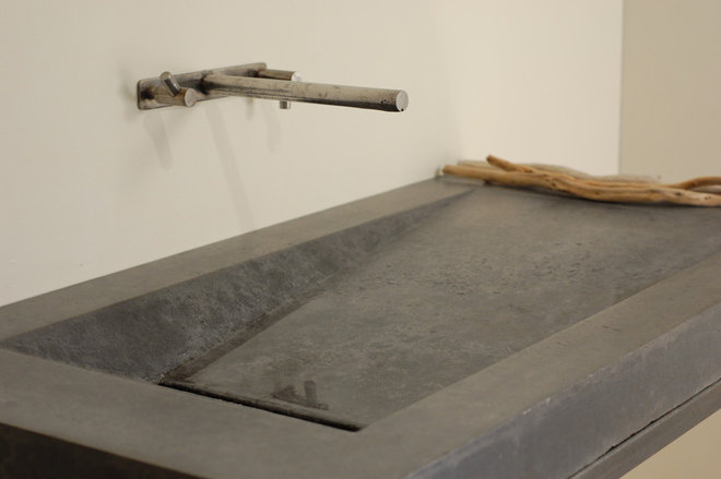 Concrete Laundry Sink Base : Modern Bathroom Sinks by Miano Design Co.