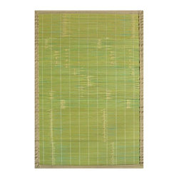 Anji Mountain - Key West Bamboo Rug - 2' x 3' - Bamboo rugs have been a traditional floor covering in the Far East for centuries. They add a touch of organic, practical elegance to any space. Our bamboo rugs are made of the finest quality, sustainably harvested bamboo in the world for supreme durability. Kiln-dried bamboo is machine-planed and sanded for a smooth finish. This classic collection offers a variety of intriguing designs and brilliant colors to choose from.
