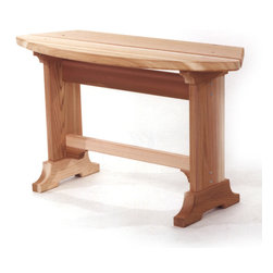 All Things Cedar - CEDAR Picnic Bench - Great for peripheral seating around the deck or an additional bench for one of our picnic table sets. : DIMENSIONS : 31w x 11d x 18h (unassembled kit)
