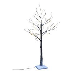 Lightshare - Lightshare LED SnowTree: 10 LED Snow Flake Light, Warm White, 4ft 48 Lights - Description:
