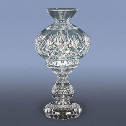 "Waterford Crystal - Waterford Crystal Fiona Hurricane Lamp 9538130211 - Waterford Fiona Hurricane Lamp  -  Rendered entirely in intricately detailed fine crystal, this stunning Fiona 13"" Hurricane Lamp brings radiance to any desk or bedside table.  -  Don't Buy From An Unauthorized Dealer  -  Genuine Waterford Crystal  -  Size: 13"" x 7""  -  Fully Authorized U.S. Waterford Crystal Dealer  -  Brand New In The Original Waterford Crystal Box  -  Each Piece Is Checked 4 Times To Ensure It Arrives In Perfect Condition  -  Stamped With The Waterford Seahorse Symbol Of Excellence  -  Waterford Crystal Hurricane Lamps Collection  -  Waterford Crystal UPC Number: 91571129221"