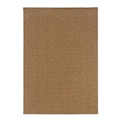 """Grandin Road - Karavia Outdoor Rug - 2'3"""" x 7'6"""" - Revolutionary flat-weave construction. 100% polypropylene fibers shrug off the elements. Indoor/outdoor versatility. Simply rinse clean with a hose. A solid classic for outdoor living. Add a soft, coffee-colored layer to your porch or patio--or take it inside to a high-traffic entryway or kitchen.. . . . Imported."""