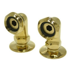 """Kingston Brass - Vintage-Style Polished Brass 2"""" Deck Mount Risers for Clawfoot Tub Faucet CC2RS2 - This riser is designed to be used with clawfoot tub faucets that have rear mounted outlets, such as ABT100,ABT200,ABT300, AND ABT400, can be used with ABT500 with the addition of ABT136, please note this Riser provides minimal height increase, make sure to  confirm spout clearance. Manufacturer: Kingston Brass. Model:CC2RS2. UPC: 663370114366. Product Name: Kingston Brass Vintage 2"""" Deck Mount Risers for Clawfoot Tub Faucet. Collection / Series: Vintage. Finish: Polished Brass. Theme: Classic. Material: Brass. Type: Faucet. Features: Constructed in high quality brass. Beautiful premier finish. 90 degrees, 2"""" high. Designed for a lifetime of exceptional performance. Fine artistic craftsmanship."""