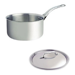 "de Buyer - de Buyer Affinity Multiply Stainless Steel Mini Sauce Pan with lid - 0.29 qt. - 7-layers of a combined alloy of stainless steel and aluminum.Very quick cooking and even heat distribution throughout the pan due to the alloy. Special innovative ferro-magnetic bottom ensure cookware is suitable for induction cooktops.Polished stainless steel exterior. Round edges Pouring rim and the cast stainless steel ergonomic handle firmly riveted. Suitable for all cooktops including induction. Dishwasher safe.; however handwash recommended. Dimensions: 3.5"" diameter x 1.8"" high (9cm x 4.5cm). Made in France."