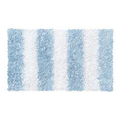 The Rug Market - Blue Stripe Shag area rug -