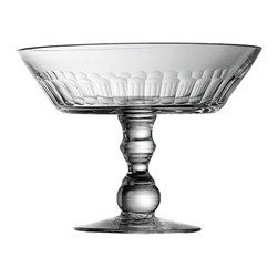 Ribbed Footed Bowl - Beautiful glass footed bowl with ribbed design.