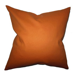 The Pillow Collection - Kalindi Orange 18 x 18 Solid Throw Pillow - - Pillows have hidden zippers for easy removal and cleaning  - Reversible pillow with same fabric on both sides  - Comes standard with a 5/95 feather blend pillow insert  - All four sides have a clean knife-edge finish  - Pillow insert is 19 x 19 to ensure a tight and generous fit  - Cover and insert made in the USA  - Spot clean and Dry cleaning recommended  - Fill Material: 5/95 down feather blend The Pillow Collection - P18-PP-DYEDSOLID-MANDARINORANG