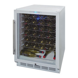 Vinotemp - Vinotemp - 58-Bottle Wine Cooler - Vinotemp's 58 bottle models are highly rated and some of our most popular units. This unit is perfect for the kitchen, bar or dining area. It is not suggested to be place in the garage due to volatile external temperature ranges.