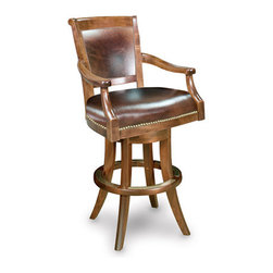 California House - eastgate swivel bar chair (leather) - Manufactured in the USA, we are proud to offer our customers this premium game room furniture from a third generation, family-owned company.