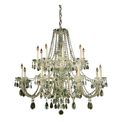 Crystorama - Crystorama 1139-PB-CL-MWP Chandelier - Traditional crystal chandeliers are classic, timeless, and elegant. Crystorama's opulent glass arm chandeliers are nothing short of spectacular. This collection is offered in a variety of crystal grades to fit any budget. For a touch of class, order this