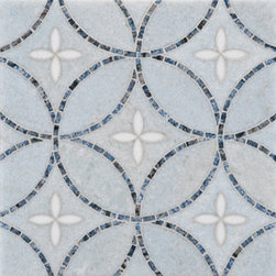 Artiste Stone Mosaic - Ann Sacks Tile & Stone - Such a pretty and classic pattern. Would work great on a bathroom floor as an inlay or a backsplash tile in a kitchen. Can be customized in any color stone you want.