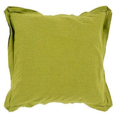 """Surya - Surya TF-006 Simple Sophistication Pillow, 22"""" x 22"""", Down Feather Filler - Fill your room with cool, calming comfort with these vibrant pillows! Featuring a burst of charming color in gallant green, this piece will fashion a look that is both functional from space to space as well as aesthetically pleasing to all who it encounters. This pillow contains a zipper closure and provides a reliable and affordable solution to updating your home's decor. Genuinely faultless in aspects of construction and style, this piece embodies impeccable artistry while maintaining principles of affordability and durable design, making it the ideal accent for your decor."""