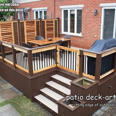 Contemporary Porch by Patio Deck-Art