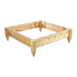 Rustic Natural Cedar - Rustic Natural Cedar 3114848 Raised Bed Planter 4' X 4' - Most gardeners agree that raised beds are easier to maintain and promote better plant growth. Naturally resistant to rot and insects, cedar is a smart and worry-free alternative to other treated woods. Whether youre looking to create a bountiful vegetable garden in a modest urban setting or add a beautiful floral accent to your outdoor space, these beds are the perfect solution. Theyre also great for use as a childs sand box.