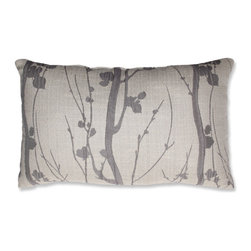 Pillow Perfect - Paolo Black Pearl Grey and Off-White Rectangular Throw Pillow - - Knife Edge  - Sewn Seam Closure  - Care and Cleaning: Spot Clean Only  - Purpose: Indoor Pillow Perfect - 540382