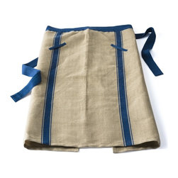 European Chef's Apron, Blue Stripe - I've recently rekindled my love of cooking, I have also rediscovered the need for a good apron (that doesn't make me feel like a fool in case someone snaps a photo). This chef's apron is perfect.