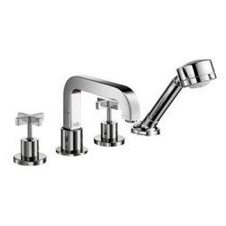 Axor - Hansgrohe - Axor Citterio 4 Hole Roman Tub Set Trim - 39453001 - Cross Handle