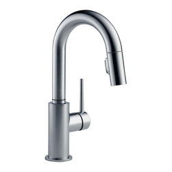 Delta Single Handle Pull-Down Bar/Prep Faucet - 9959-AR-DST - Sleek, minimalistic design makes Trinsic the perfect complement to today's modern home.