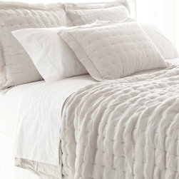 """Pine Cone Hill - PCH Brussels Quilt - The PCH Brussels quilt's neutral hue complements a range of interiors. Versatile and stylish, this beige blanket exudes a soothing and sophisticated vibe with plush texture. 52% linen, 48% viscose; Machine wash; Available in full/queen and king sizes; Designed by Pine Cone Hill, an Annie Selke company Full/queen: 88""""W x 88""""H; King: 102""""W x 92""""H"""