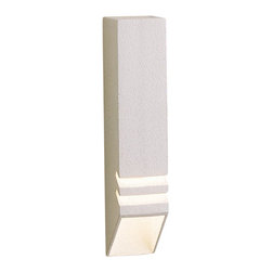 LANDSCAPE - LANDSCAPE Louvered Deck Light X-THW66051 - This Kichler Lighting outdoor deck light features a contemporary look and multiple tiers to direct light downward. The Textured White finish is a perfect compliment for lighter colored deck woods.