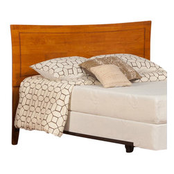Atlantic Furniture - Atlantic Furniture Metro Twin Headboard in Caramel Latte-Twin - Atlantic Furniture - Headboards - R190827 - The Metro headboard has a fashionable taste of its own. Symmetrical curvature with an accommodating inset bevel gives this bed the Metropolitan sophistication.
