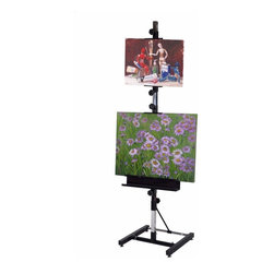 Martin Universal - Martin Universal Avanti Metal Easel - 92-50404 - Shop for Art Easels from Hayneedle.com! The Avanti Metal Easel by Martin Universal features a square-tube steel mast with chrome finish. This square mast works to eliminate canvas movement as you work toward the edges of your canvas. A total of four adjustable canvas blocks allows you to display two paintings or fix inspirational or reference material between two blocks as you paint. If used with one canvas this easel can accommodate heights up to 52 inches high and 36 inches wide.About Martin Universal/F. Weber Co.For a century and a half the name Martin Universal and F. Weber Co. have been synonymous with quality art materials. Established in 1853 in Philadelphia Pennsylvania the Martin/Weber is the oldest and one of the largest manufacturers of art materials in the United States.