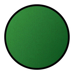 Learning Carpets - Cut Pile Rug in Solid Green (Small) - Choose Size: Small. Round shape. Flexible back resists wrinkling. Triple felt backing. 10-years soil and stain protection. High twist nylon prevents matting and crushing. Double stitching. Lifetime anti-static fiber. Anti-microbial treatment. Age limit: 2 to 8 years. Lifetime limited warranty. Made from 100% nylon. Made in Belgium. Small: 78 in. Dia.. Large: 108 in. Dia.