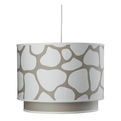 Oilo - Cobblestone Double Cylinder, Taupe - The cobblestone design of this drum light is complemented perfectly by the solid secondary drum shade. The two pieces work together to cast a warm glow of light in any room, but look especially striking above a dining table. The fixture also comes with a white acrylic sheet for the bottom to hide the bulb and evenly diffuse light in your room.