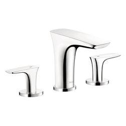 Hansgrohe - Hansgrohe PuraVida 110 Widespread Lavatory Faucet, Chrome (15073001) - HansGrohe 15073001 PuraVida 110 Widespread Lavatory Faucet, Chrome