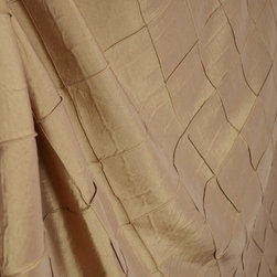 Colchester Bisquit Tan Faux Silk Diamond Pintuck Drapery Fabric By The Yard - Colchester Bisquit is a beige faux silk fabric that has been pintuck stitched to create a diamond pattern.  Best uses for this fabric are window treatments, bedding and pillows.