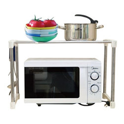 Above Edge Microwave Storage Rack - Occupies no space when placed around another item like Microwave oven